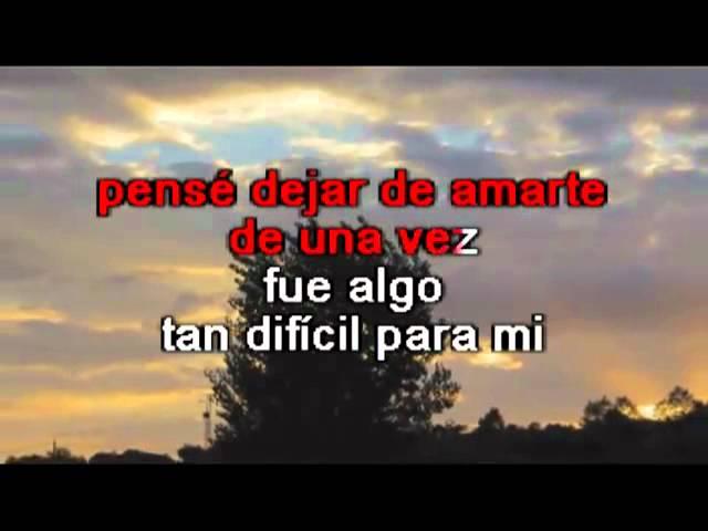 Roberto Carlos La Distancia Karaoke Youtube