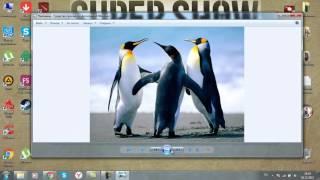 Как зделать слайд шоу на Windows 7