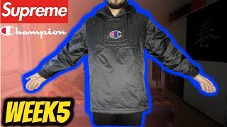 SUPREME WEEK 5 PICKUPS! Supreme®/Champion® Pullover Parka REVIEW