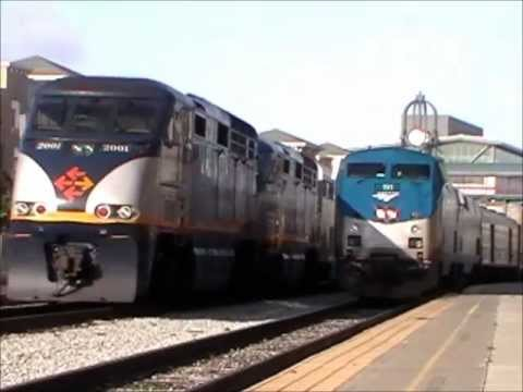 15 Trains at Jack London Square Including the Amtrak 40th Anniversary Train and 2 S&HC's From 184
