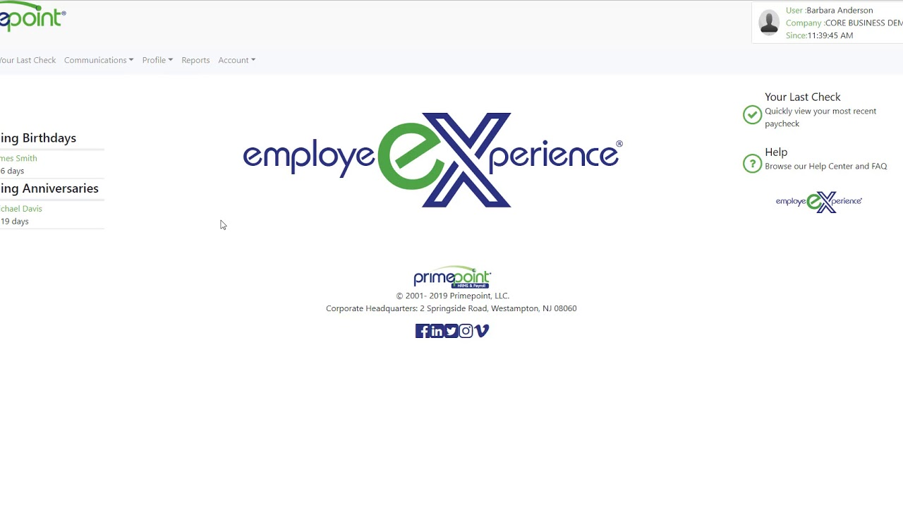 EmployeeXperience® - Primepoint HRMS & Payroll