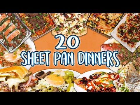 20 Sheet Pan Dinners   Recipe Super Compilation   Well Done