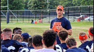 Illinois AD Josh Whitman Addresses Illini Football Team at Training Camp