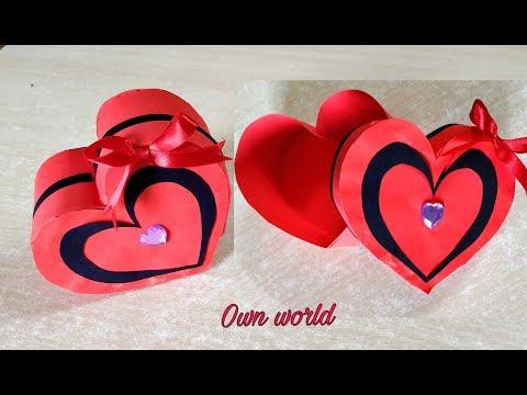 DIY Valentine's Day Gift Box /Heart Box - Paper Craft