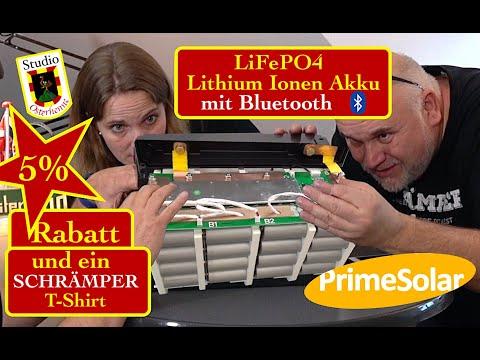 LiFePO4  auseinandergeschraubt zerlegt Lithium Eisen Phosphat Batterie Akku 12V mit bluetooth
