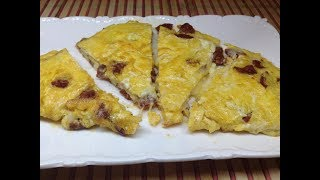 Sucuklu Omlet -Kahvaltı Tarifleri