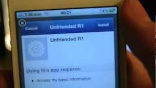 Unfriended App Review Version 1.3