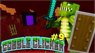 CREATING THE NETHER PORTAL! Minecraft Cobble Clicker - Let's Play Episode 9