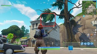 Fortnite bug with tree hitbox