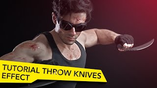 How to Throw Blades  Through Camera - After Effects Tutorial