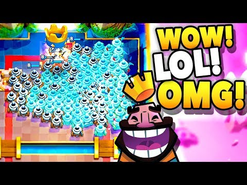 MOST INSANE ZAPPIES! (Clash Royale New Card Update Gameplay!)
