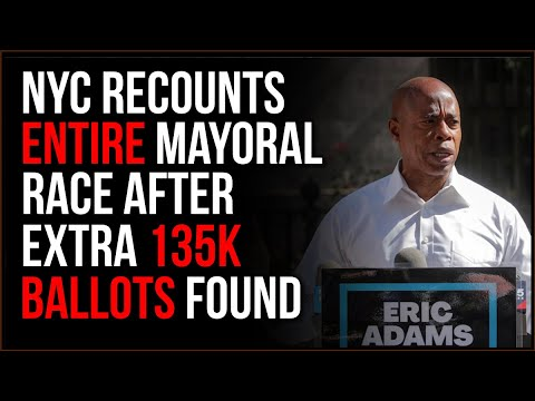NYC Makes MASSIVE 'Mistake' With Mayoral Ballots, They Had 135k 'Test' Ballots M