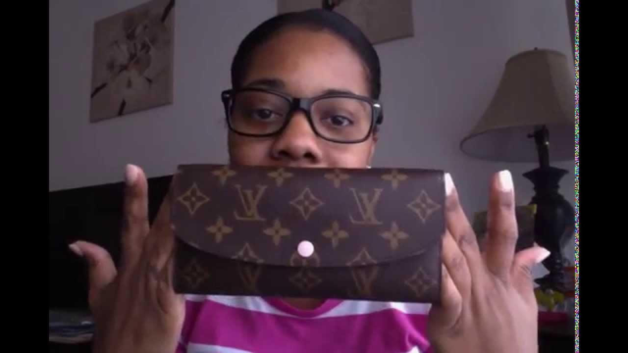 louis vuitton emilie wallet rose ballerine youtube