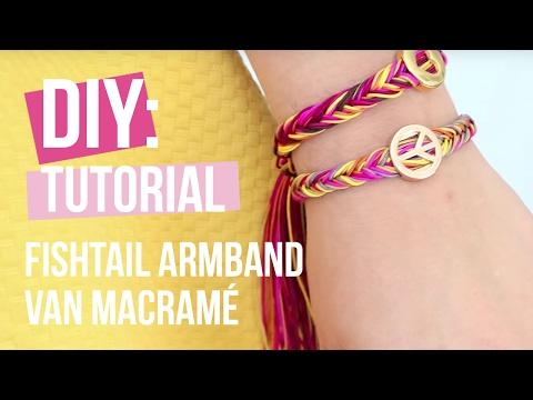 Sieraden maken: Fishtail armband van Macramé ♡ DIY