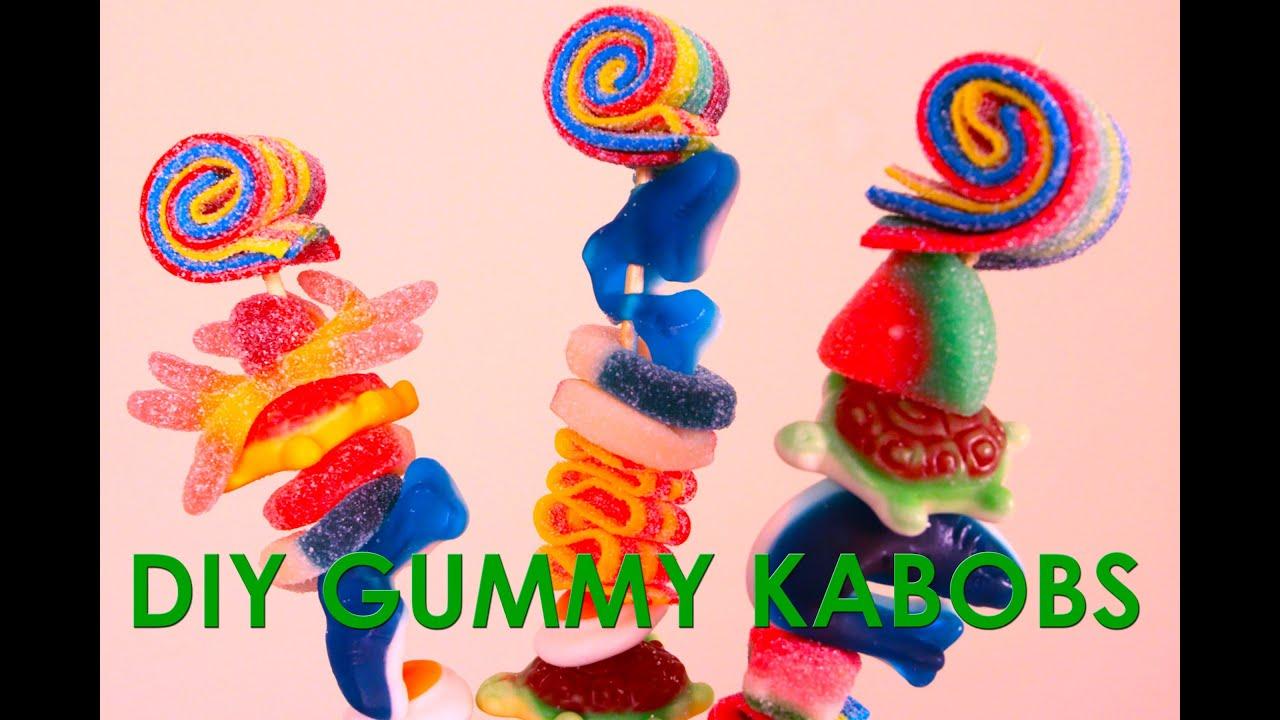 Candy Kabobs Sweet Treats Diy Gummy Kabobs Youtube