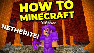 Full Netherite Armor and a TNT Dupe Ancient Debris Machine! - How to Minecraft #14