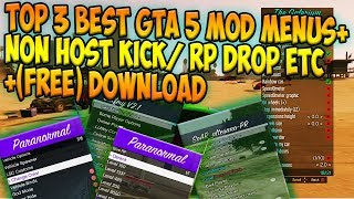 (PS3/GTA 5) TOP 3 BEST Mod Menus Give-RP/Non-Host Kick + (FREE) Download
