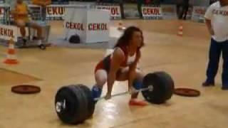 Анета Флорчик - становая тяга 250 кг | Aneta Florczyk deadlift 250 kg