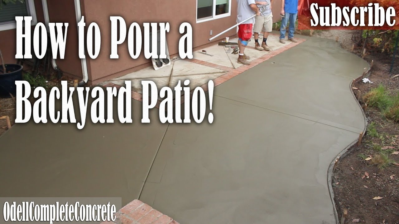 How To Pour A Backyard Concrete Patio Fix Old Lose Brick Borders
