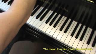 Piano chords; Major and Minor Triads thumbnail
