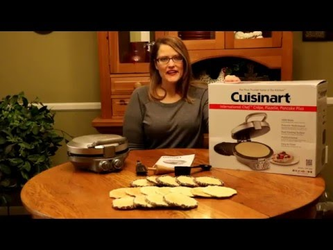 How to Make Pizzelle Cookies with Cuisinart International Chef Crepe Pizzelle Pancake Plus