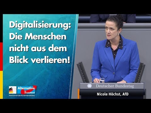 Digitalisierung: Die Menschen nicht aus dem Blick verlieren! - Nicole Höchst - AfD-Fraktion