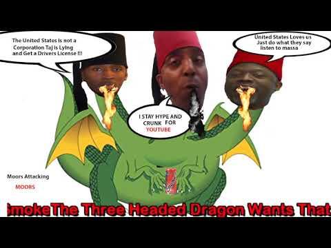 **M S T A** 3 Headed **Moorish** Dragon Moorish World Agents /T V