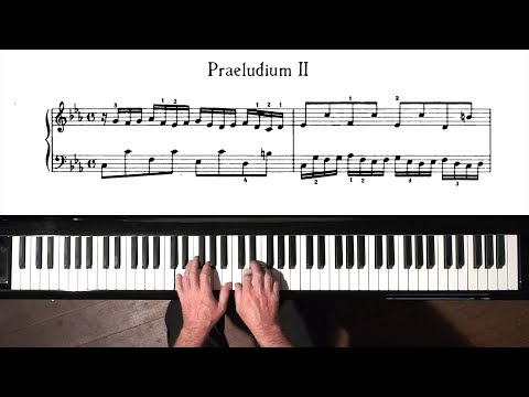 Bach Prelude and Fugue No.2 Well Tempered Clavier, Book 2 with Harmonic Pedal
