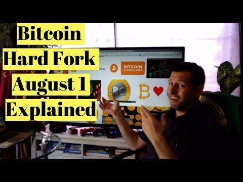 Bitcoin Hard Fork August 1 2017