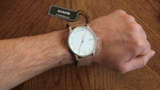MVMT White Face Tan Leather Watch Review