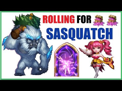 30k Gems Rolled For Dove Keeper And Sasquatch Castle Clash