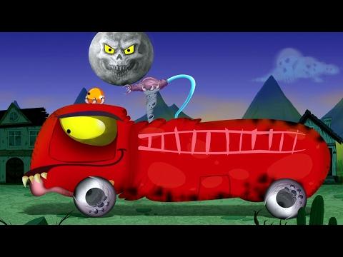 Carro bombeiros assustador | crianças veículos | Assustador video | Kids Scary Videos | Fire Truck