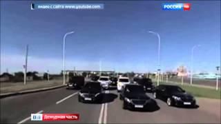 Свадебный кортеж из дорогих авто сына чиновника МВД, устроил необычный заезд в Казахстане(, 2015-09-30T15:48:24.000Z)