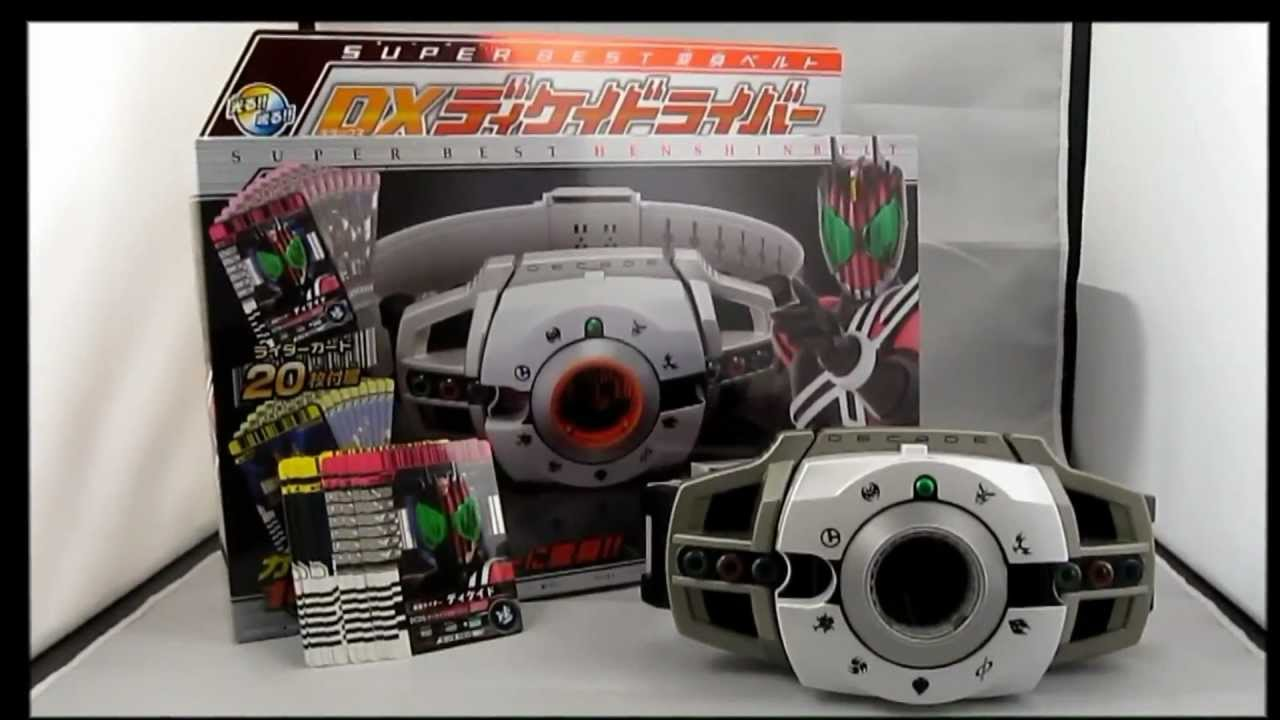 kamen rider belt. (kamen rider decade) dx super best henshin belt decadriver review - youtube kamen r