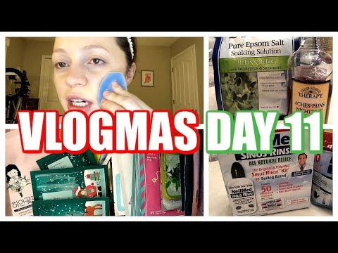 VLOGMAS DAY 11 | Weird Sponge, Bubble Bath, Being Sick