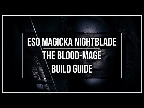 ESO Magicka Nightblade PvP Build - The Blood Mage - Destro/Resto
