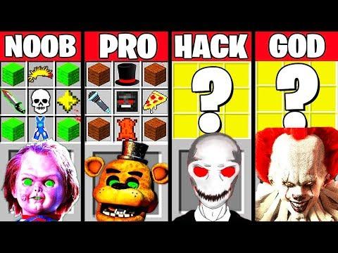 Minecraft Battle: TOP COMPILATION CRAFTING CHALLENGE - NOOB Vs PRO Vs HACKER Vs GOD Funny Animation