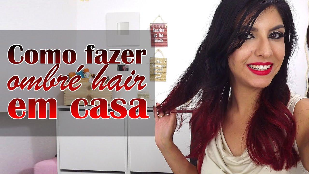 Fazer Ombre Hair Em Casa Preto Para Vermelho Veda 13 Tania