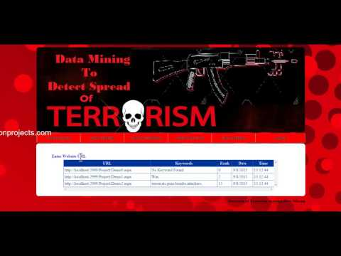 Web Data Mining To Detect Online Spread Of Terrorism