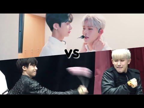 hyungwon with maknae line vs. hyung line