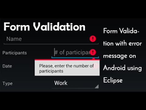 Validating text fields in android