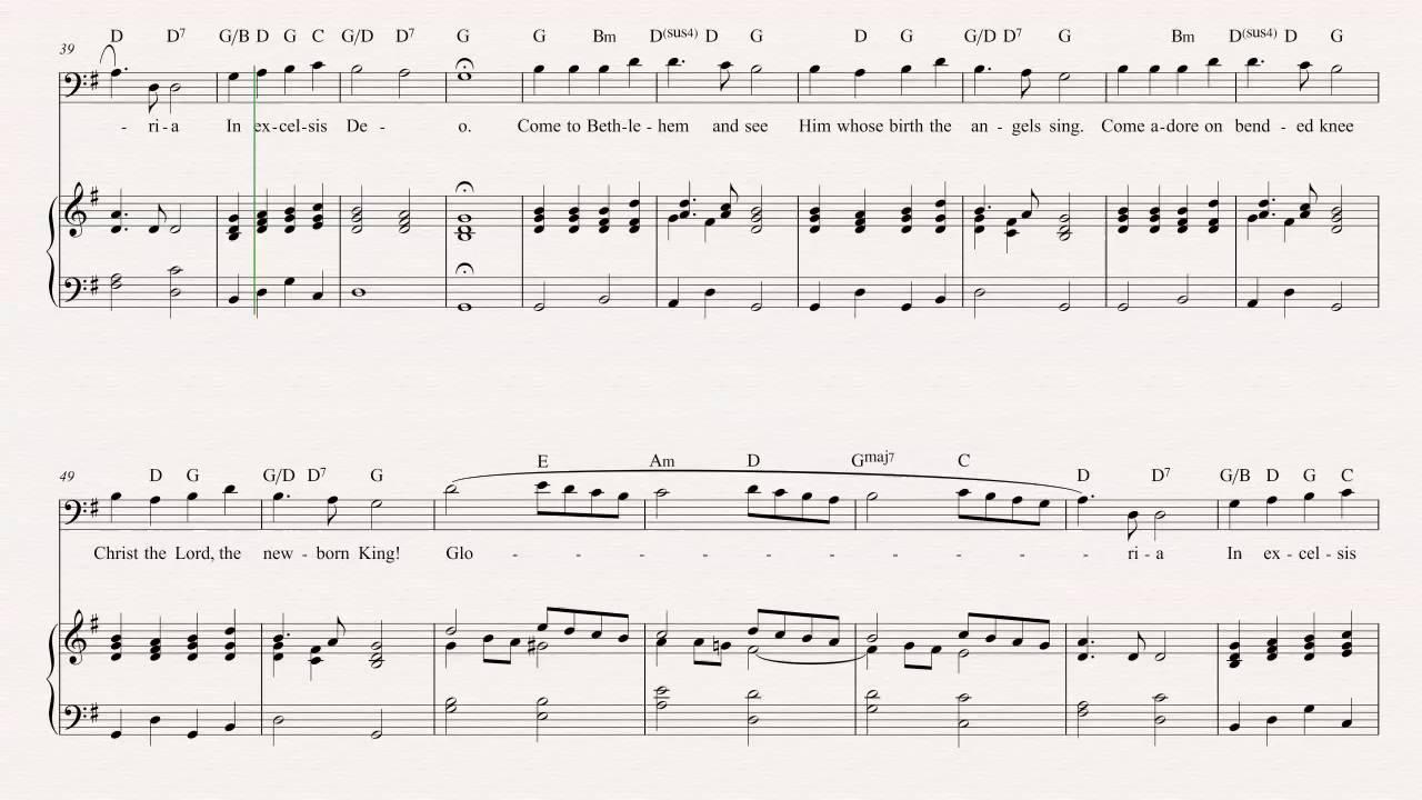 Euphonium - Angels We Have Heard On High - Christmas Carol - Sheet ...