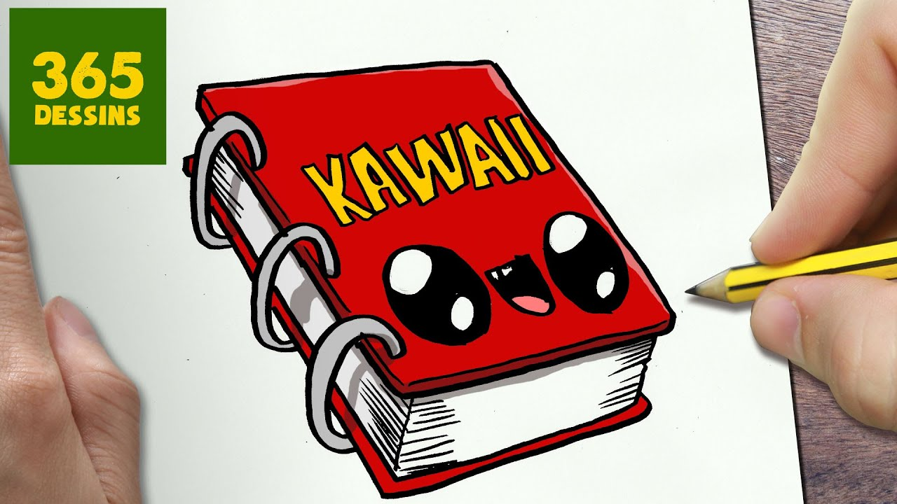 Comment Dessiner Cahier Kawaii Etape Par Etape Dessins Kawaii