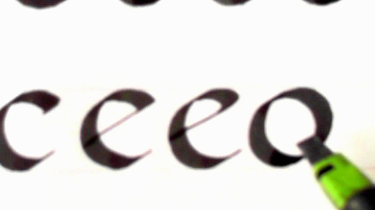 Calligraphy 17 Foundational Hand Lower Case O C E