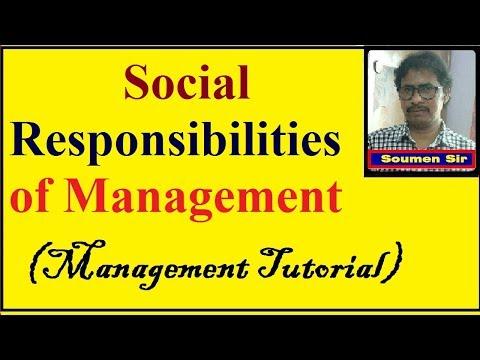 Social Responsibilities Of Management || Management Tutorial