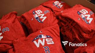 HOW IT'S MADE: Boston Red Sox World Series champs gear in production at Fanatics after Game 5 win.