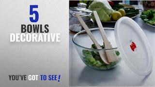 Top 10 Bowls Decorative [2018]: Borosil Glass Mixing Bowl with Plastic Lid, 1.3 Litres, Transparent