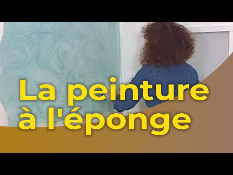 La peinture l 39 ponge youtube for Decorer le salon
