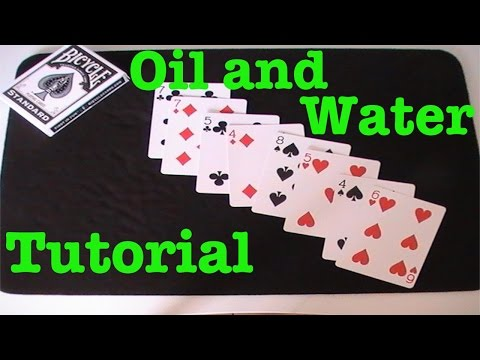 Oil and Water - Card Trick Tutorial