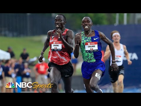 Lomong and Chelimo's 5K duel comes down to final steps | NBC Sports